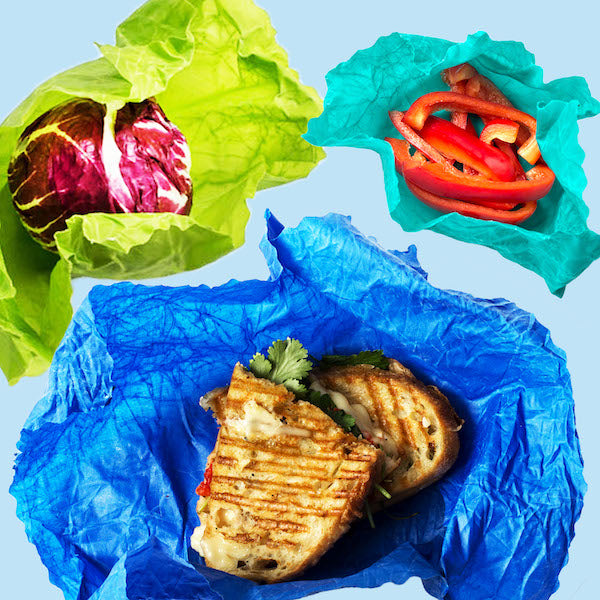 BLUE Food Wrap Starter Pack | 1 Multi-Pack, 3 wraps total | Hand Made in Toronto