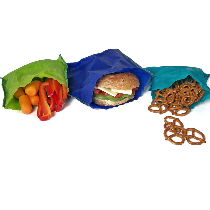 Lunch Set - 3 Pack | 3 sandwich bag & 6 snack bags (S)