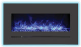"Sierra Flame 34"" Built-In/Wall Mounted Electric Fireplace (WM-FML-34-4023-STL) - Electric Fireplace Shop"