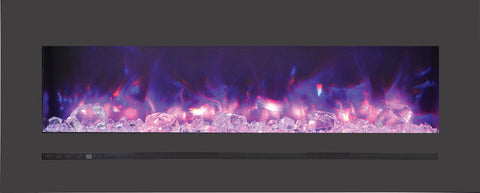 "Sierra Flame 48"" Built-In/Wall Mounted Electric Fireplace (WM-FML-48-5523-STL) - Electric Fireplace Shop"
