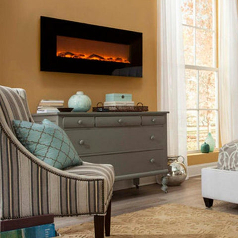 "Image of Touchstone Onyx  50"" Wall Mounted Electric Fireplace (80001) - Electric Fireplace Shop"