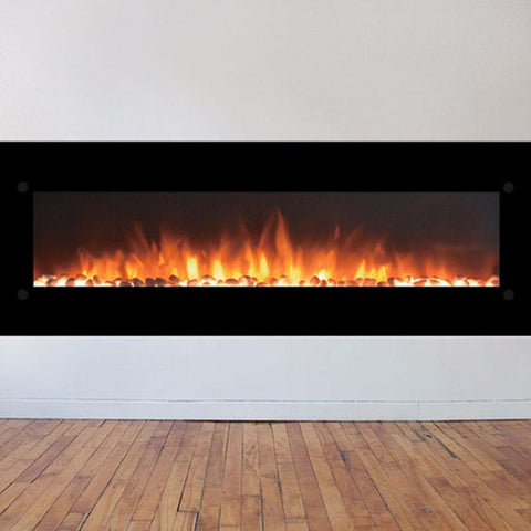 "Image of Touchstone OnyxXL  72"" Wall Mounted Electric Fireplace (80005) - Electric Fireplace Shop"