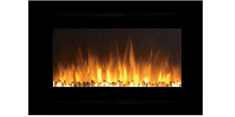 "Image of Touchstone Forte 40"" Recessed/Wall Mounted Electric Fireplace (#80006) - Electric Fireplace Shop"