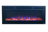 "Touchstone Sideline Steel 50"" Recessed Electric Fireplace (80013) - Electric Fireplace Shop"