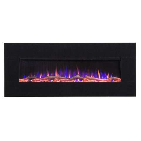"Image of Touchstone AudioFlare 50"" Black Glass Recessed/Wall Mount Electric Fireplace (#80035) - Electric Fireplace Shop"