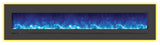 "Sierra Flame 88"" Built-In/Wall Mounted Electric Fireplace (WM-FML-88-9623-STL) - Electric Fireplace Shop"
