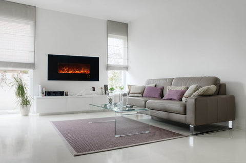"Modern Flames Ambiance 60"" Built-in/Wall Mount Electric Fireplace (AL60CLX2) - Electric Fireplace Shop"