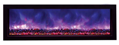 "Amantii 60"" Built-In Electric Fireplace (BI-60-SLIM) - Electric Fireplace Shop"