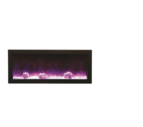 "Amantii 40"" Panorama Series Built-In Electric Fireplace (BI-40-SLIM) - Electric Fireplace Shop"