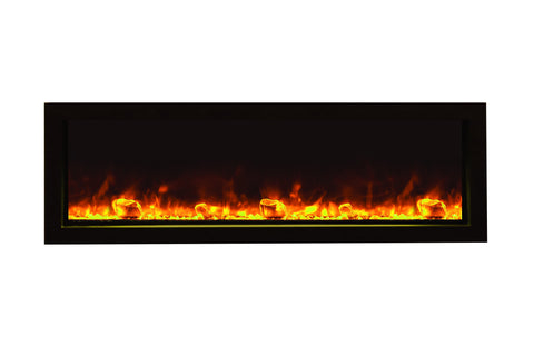"Amantii 50"" Panorama Series Built-In Electric Fireplace (BI-50-SLIM) - Electric Fireplace Shop"