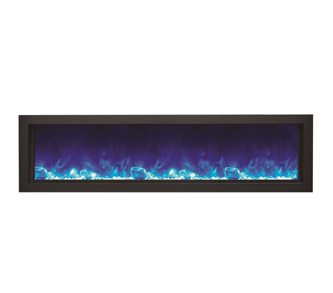 "Image of Amantii 60"" Panorama Series Indoor/Outdoor Built-In Electric Fireplace (BI-60-DEEP) - Electric Fireplace Shop"