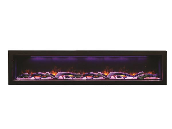 "Amantii 72"" Panorama Series Indoor/Outdoor Built-In Electric Fireplace (BI-72-DEEP) - Electric Fireplace Shop"