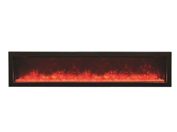"Amantii 72"" Panorama Series Built-In Electric Fireplace (BI-72-SLIM) - Electric Fireplace Shop"