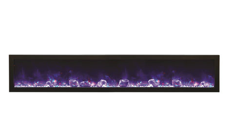 "Image of Amantii 88"" Panorama Series Indoor/Outdoor Built-In Electric Fireplace (BI-88-DEEP - Electric Fireplace Shop"