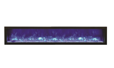 "Image of Amantii 88"" Panorama Series Built-In Electric Fireplace (BI-88-SLIM) - Electric Fireplace Shop"