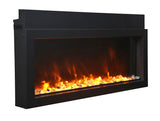 "Amantii Extra Slim 30"" Indoor or Outdoor Electric Fireplace - Electric Fireplace Shop"