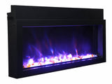 "Amantii Extra Slim 40"" Indoor or Outdoor Electric Fireplace - Electric Fireplace Shop"