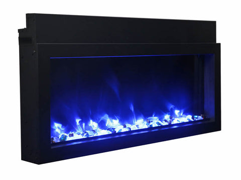 "Image of Amantii Extra Slim 50"" Indoor or Outdoor Electric Fireplace - Electric Fireplace Shop"