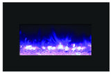 Amantii Medium Electric Fireplace Insert with Black Glass Surround (INS-30-4026-BG) - Electric Fireplace Shop