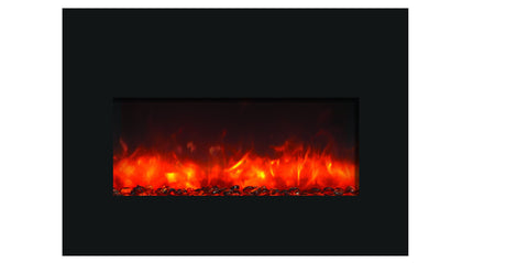 Amantii Large Electric Fireplace Insert with Black Glass Surround (INS-33-4230-BG) - Electric Fireplace Shop
