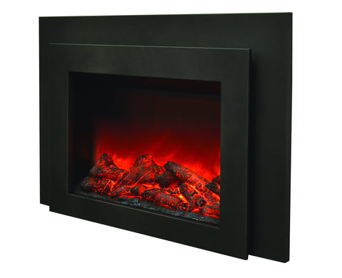 "Image of Sierra Flame 34"" Flush Mount Electric Insert (INS-FM-34) - Electric Fireplace Shop"