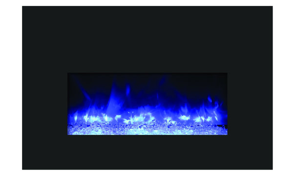 Amantii Small Electric Fireplace Insert with Black Glass Surround (INS-26-3825-BG) - Electric Fireplace Shop