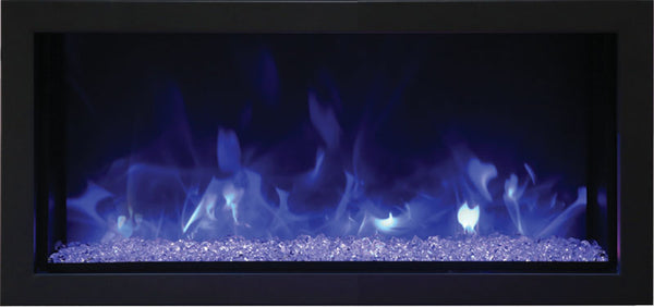 Remii Extra Slim Indoor/Outdoor Frameless Built In Electric Fireplace - Electric Fireplace Shop