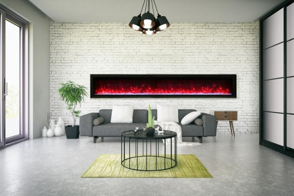 "Amantii 100"" SYMMETRY B Series Built-In Electric Fireplace (SYM-100-B) - Electric Fireplace Shop"