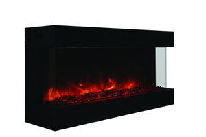"Amantii 50"" 3-sided glass electric fireplace Built-in only (50-TRU-VIEW-XL) - Electric Fireplace Shop"
