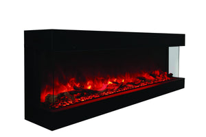 "Amantii 72"" 3-sided Glass Electric Fireplace Indoor/Outdoor (72-TRU-VIEW-XL) - Electric Fireplace Shop"