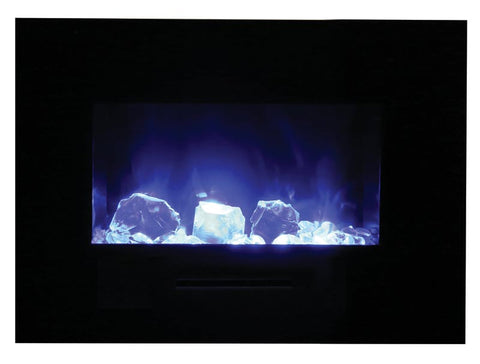 "Amantii 36"" Wall Mount/Flush Mount Electric Fireplace (WM-FM-26-3623-BG) - Electric Fireplace Shop"