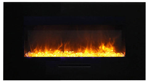 "Amantii 44"" Wall Mount/Flush Mount Electric Fireplace (WM-FM-34-4423-BG) - Electric Fireplace Shop"