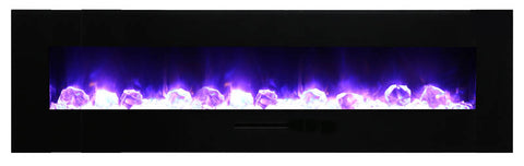 "Amantii 81"" Wall Mount/Flush Mount Electric Fireplace (WM-FM-72-8123-BG) - Electric Fireplace Shop"