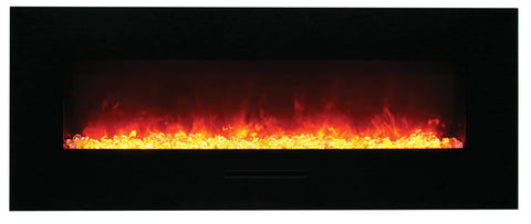 "Amantii 58"" Wall Mount/Flush Mount Electric Fireplace (WM-FM-48-5823-BG) - Electric Fireplace Shop"