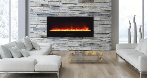 "Amantii 51"" Wall Mount/Built-In Electric Fireplace (WM-FM-50-BG) - Electric Fireplace Shop"