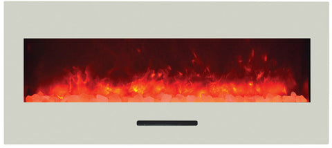 "Image of Amantii 50"" Built-In/Wall Mount Electric Fireplace (no log set) WM -FM-BG-NOLOG - Electric Fireplace Shop"