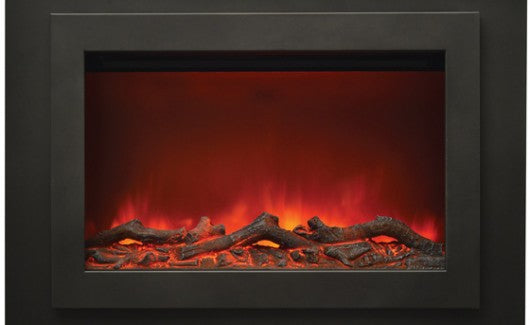 "Sierra Flame 37"" Zero Clearance Fireplace with Steel Surround (ZC-FM-37) - Electric Fireplace Shop"