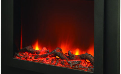 "Sierra Flame 45"" Zero Clearance Fireplace with Steel Surround (ZC-FM-45) - Electric Fireplace Shop"