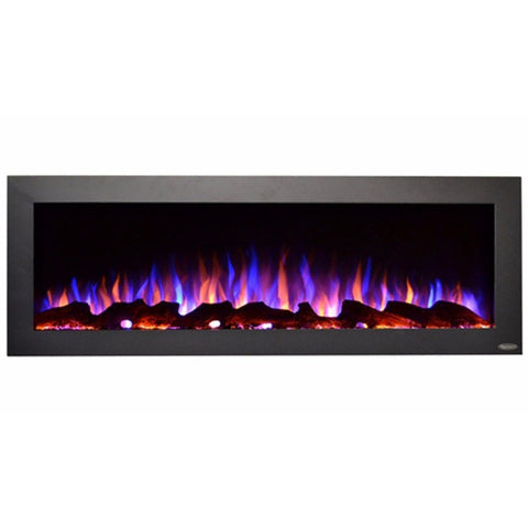 "Touchstone Sideline 50"" Outdoor Electric Fireplace, No Heat (#80017) - Electric Fireplace Shop"