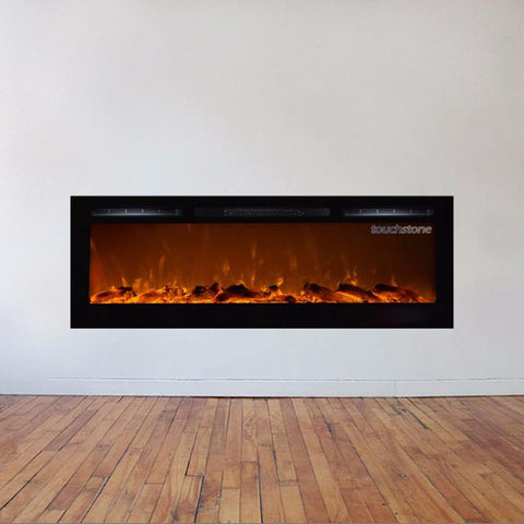 "Touchstone Sideline 72"" Recessed Electric Fireplace (80015) - Electric Fireplace Shop"