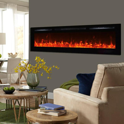 "Image of Touchstone Sideline 72"" Recessed Electric Fireplace (80015) - Electric Fireplace Shop"