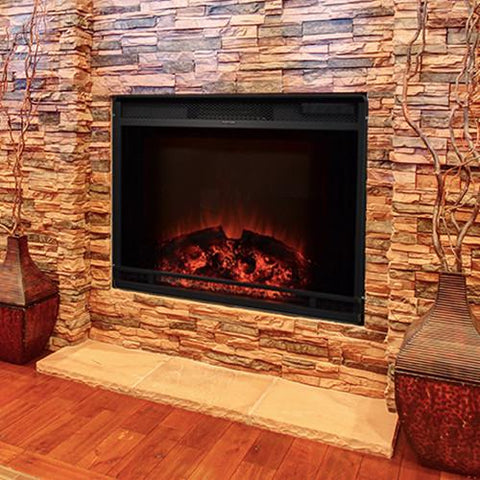 "Touchstone Edgeline 28"" Electric Fireplace Insert (#80016) - Electric Fireplace Shop"