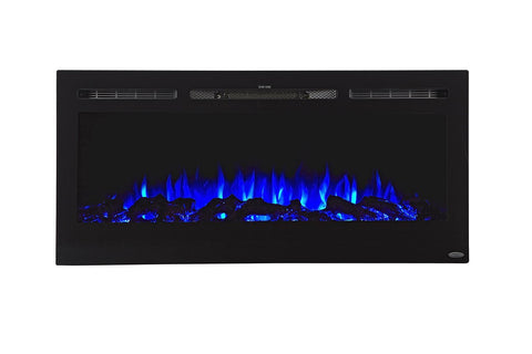 "Touchstone Sideline 45"" Recessed/Wall Mount Electric Fireplace (80025) - Electric Fireplace Shop"