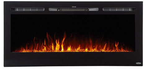 "Image of Touchstone Sideline 45"" Recessed/Wall Mount Electric Fireplace (80025) - Electric Fireplace Shop"