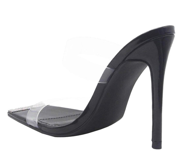 Kate Black Clear Strap Heel
