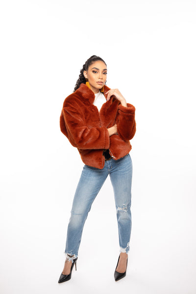 Around The Way - Faux Fur Bomber