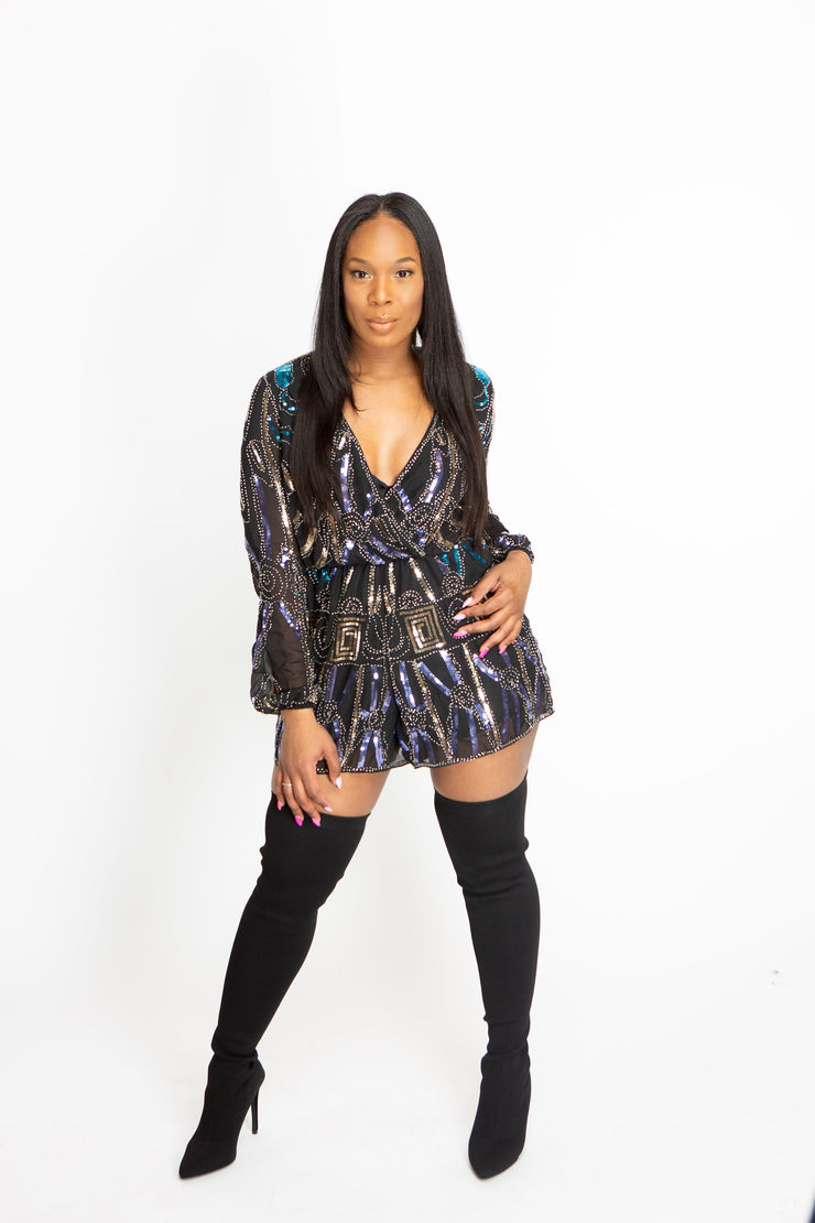 Shine On You - Sequin Romper