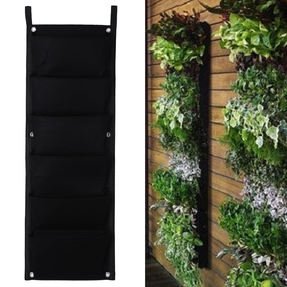 6 Pocket Hanging Vertical Wall Garden Planter