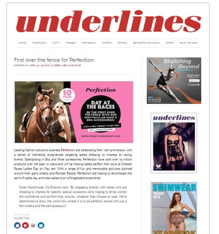 Perfection First over the fence  underlines magazine