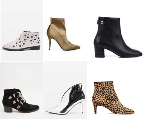 6b57acb0889 HM – Satin Ankle Boots £34.99 . Seven Boot Lane – Kitty Black Leather  £160.00 . ASOS – Ryder Suede Buckle Ankle Boots £35.50 . Topshop – Hale  Ankle Boots ...